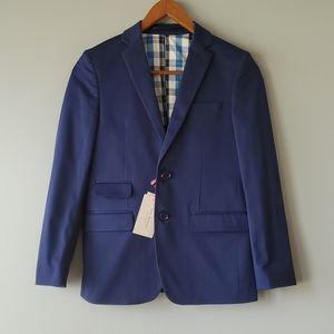 Isaac Mizrahi NY Blue Long Sleeve Blazer Boys 12